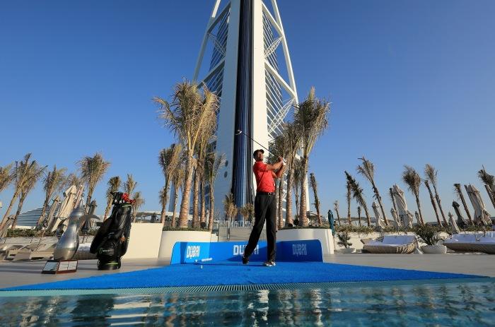 Tiger Woods at the Burj Al Arab